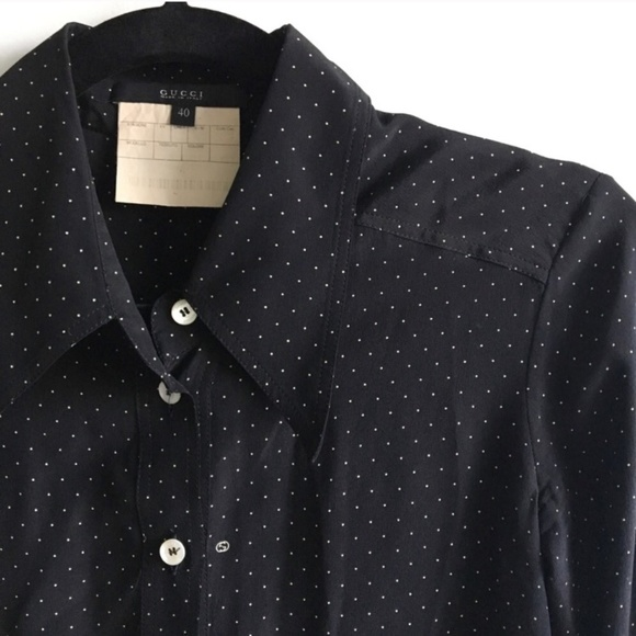 27873f13c9ba7 Gucci Tops - Gucci Polka Dot Button-Up Blouse